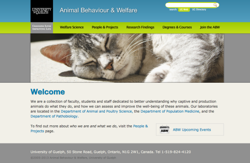 New UoG Animal behaviour & Welfare website