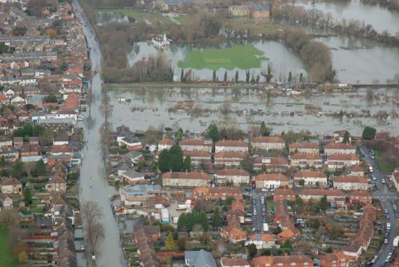 Oxford under water